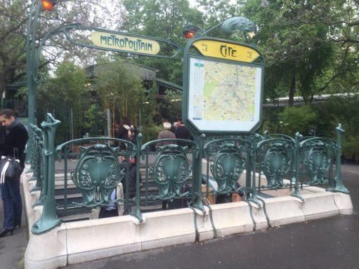 Paris: Cite Metro Station near Notre Dame