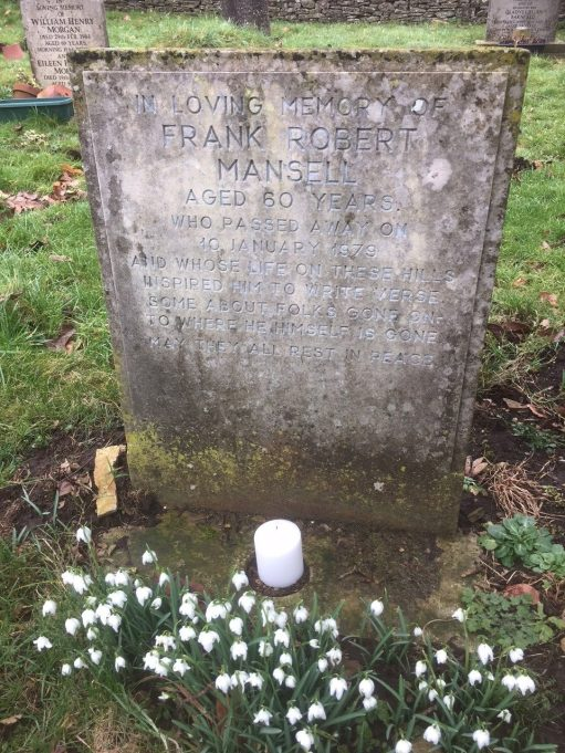 Snowdrops: Lighting a Candle to Frank Mansell.