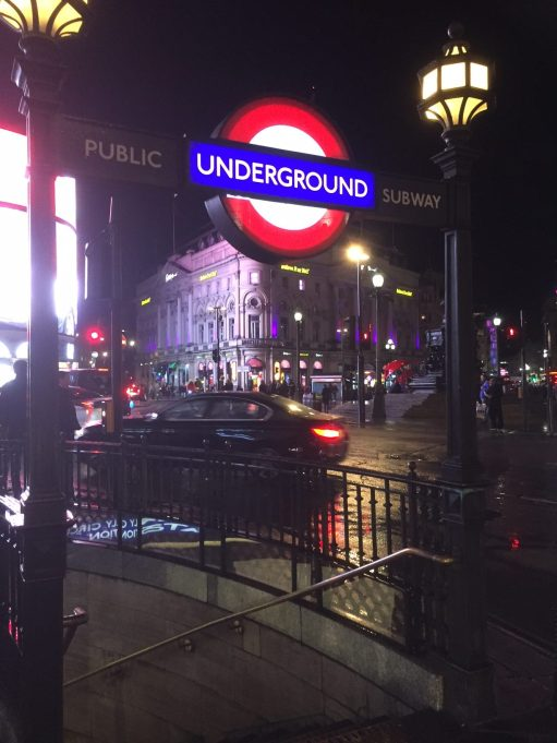 Piccadilly Circus: Station Entrance.