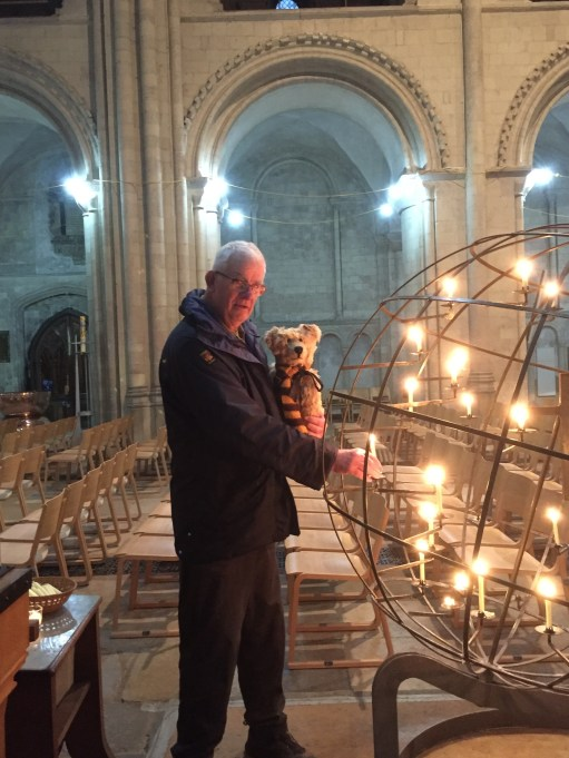 Suffolk: Lighting a Candle for Diddley. We also lit a candle for Diddley in Norwich Cathedral the previous day.