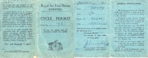Ernie's War: Ernie's new cycle permit.