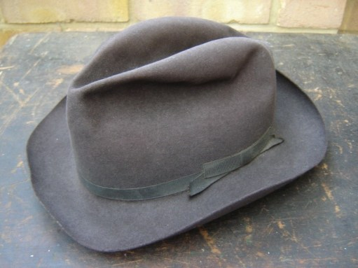 Ernie's War: Ernie's de-mob felt trim hat.