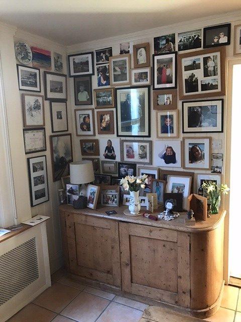 Laurel Cottage: A wall of memories and grandchildren.