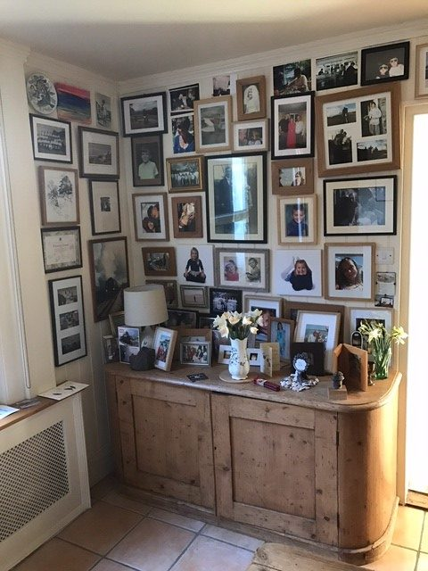 Laurel Cottage: A wall of memories and grandchildren.