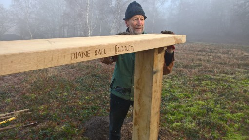 "The Bench: Chris. National Trust Volunteer… ""Chris of all trades""."