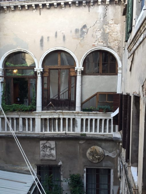 Venice: The view from the bedroom window. Fantastic.