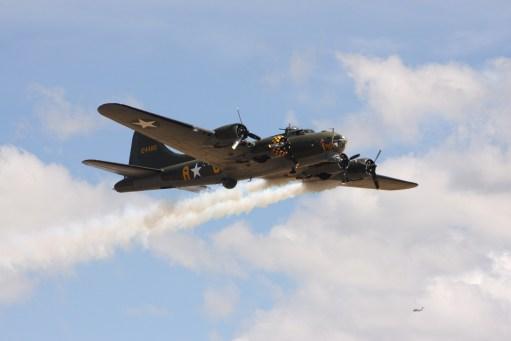 "Flying Legends Duxford. ""Sally B"" B17 Flying Fortress."