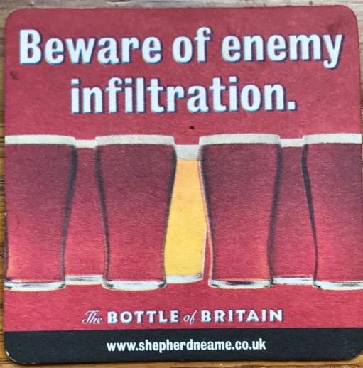Heatwave: Beware of enemy infiltration. The Bottle of Britain.