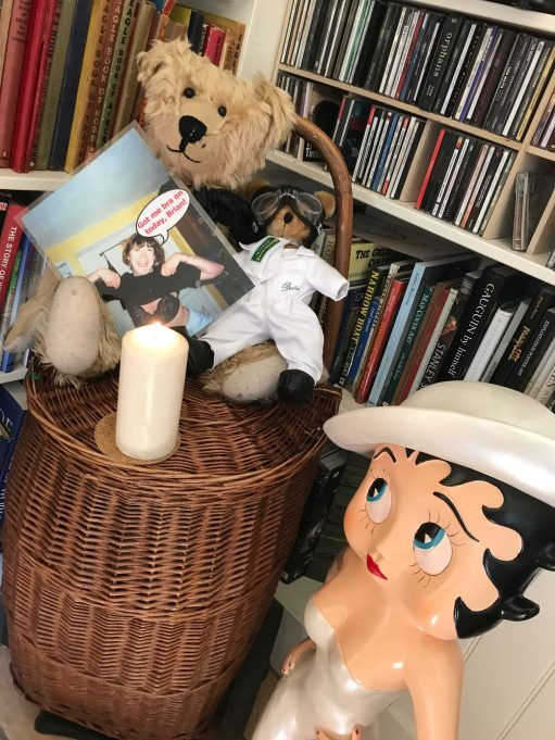 "Outbreak of Common Sense: On ""Bobby2"" with Betty Boop, and another Bertie. Picture with caption ""Got me bra on today, Brian!""."