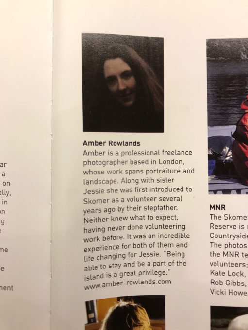 ... and the page on which Amber is featured.