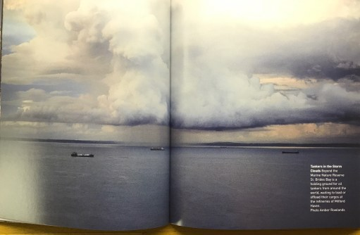 Amber: Double page spread of one of her photographs.