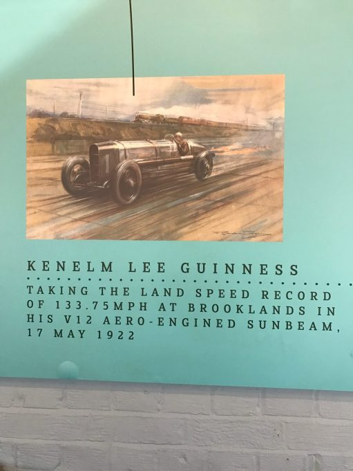 Brooklands: Kenelm Lee Guinness. The racing driver who founded KLG Sparking Plugs, where Bobby's dad Sid worked for forty years. And also, for a while, his sister, Wendy.