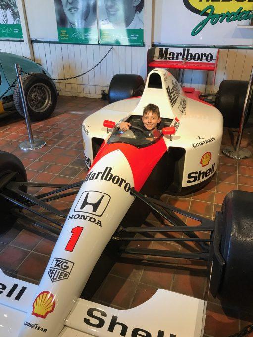 Brooklands: Sonny in an F1 McLaren.