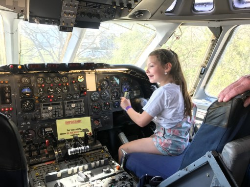 Brooklands: Kyla flying a VC10.