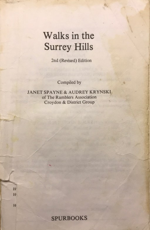 "Wintershall Manor: ""Walks in the Surrey Hills"". Published 1974."