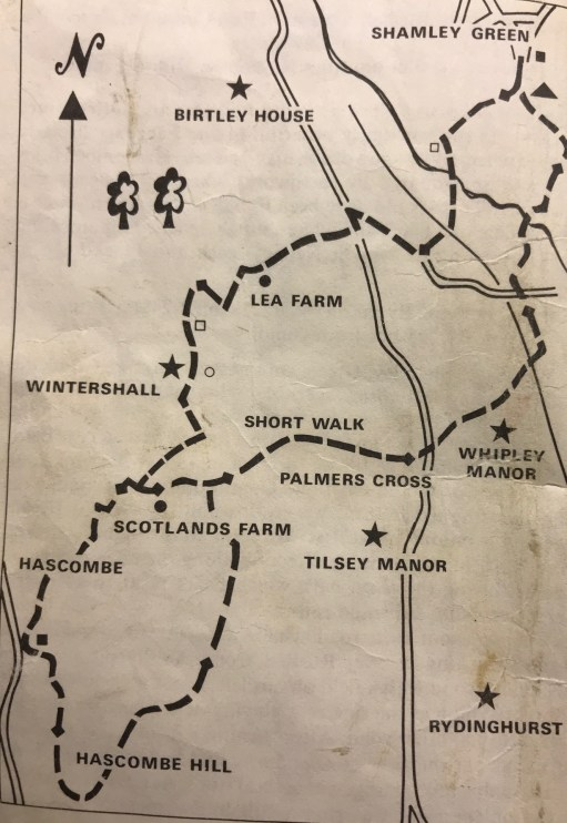 Wintershall Manor: Walk 1, text and map.