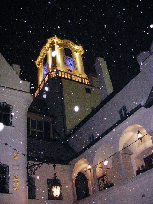 The Kitchen Window: Snowing at Christmas in Bratislava.