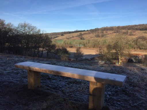 Bench: Diddley's View.