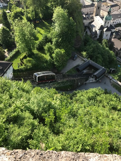 Salzburg: Funicular up to the castle.