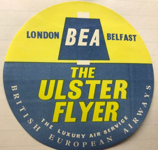 Trevor's Stickies: BEA - The Ulster Flyer.