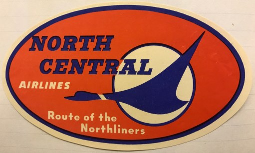 "Trevor's Stickies: North Central Airlines. An American regional airliner. Bobby loved the logo, known as ""Herman the Duck"", and nearly painted it on his van. 1944. Ceased operations 1979 through merger."