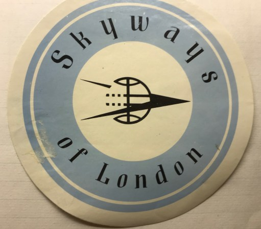 Trevor's Stickies: Skyways of London. 1946-1962.