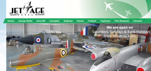Cotswolds: Jet Age Museum website homepage.