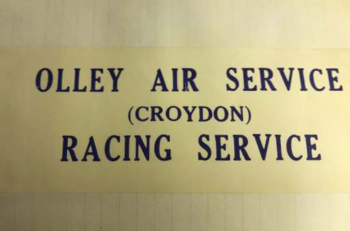 Croydon Airport: Olley Air Service - Racing Service.