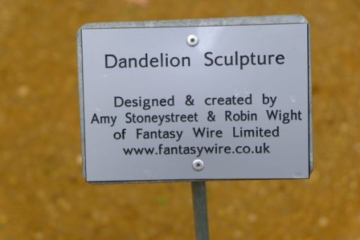 Just Two Hours: Dandelion Sculpture. Designed & created by Amy Stoneystreet & Robin Wight of Fantasy Wire Ltd.