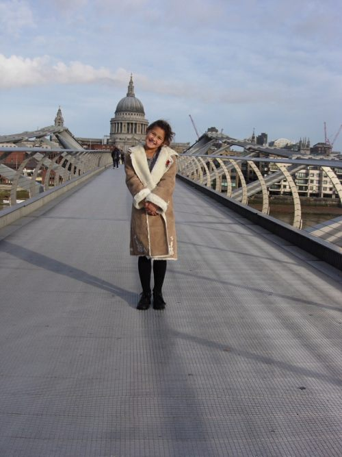 "Special One: Over the Millennium Bridge. A Princess in ""Monsoon""."