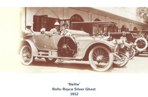 "Special One: Old photograph of ""Nellie"" Rolls-Royce Silver Ghost 1912."