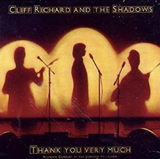 Sir Cliff Richard: The London Palladium Reunion Album Cover with the Shadows in 1979.