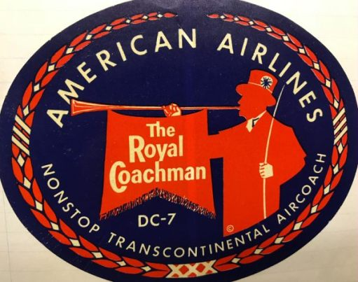 Trevor and Henry: American Airlines: The Royal Coachman. DC-7. USA