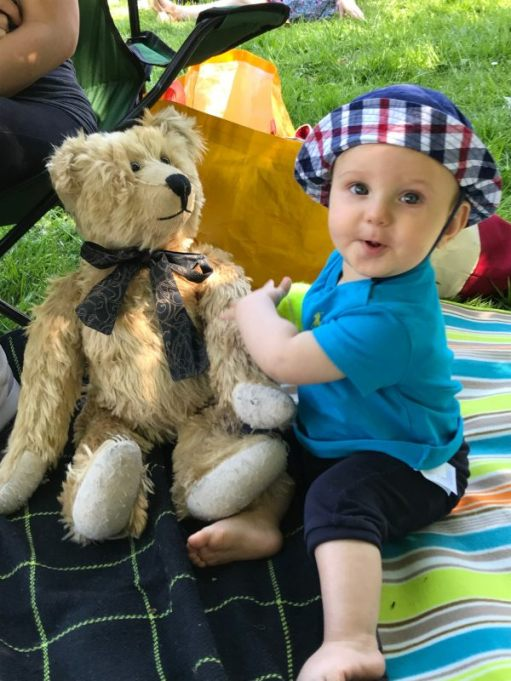 Teddy Bears' Picnic: Here's Kai. Bobby's newest grandson. Brother to Sonny and Kyla May.