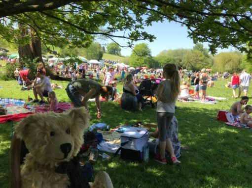 """Teddy Bears' Picnic: """"Corrr. The crowds are arriving."""""""
