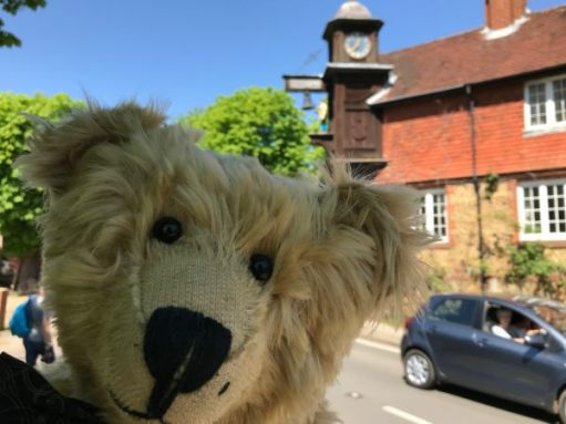 "Teddy Bears' Picnic: ""Just nipped over to see the clock for you punters!"""