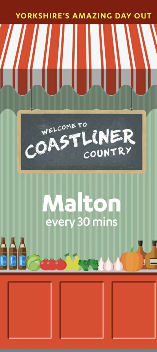 840 to Whitby: Malton - where the bus company is based.