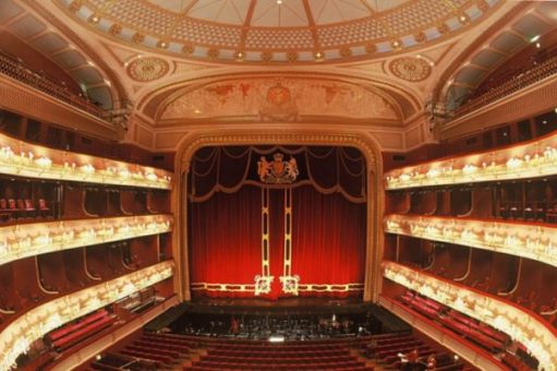 The ballet: The auditorium, Royal Opera House.
