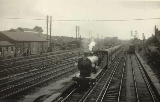 """The Footbridge: June 1924. """"Up""""train to Waterloo."""
