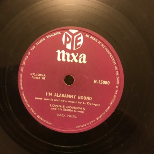 Lonnie Donegan: I'm Alabammy Bound.