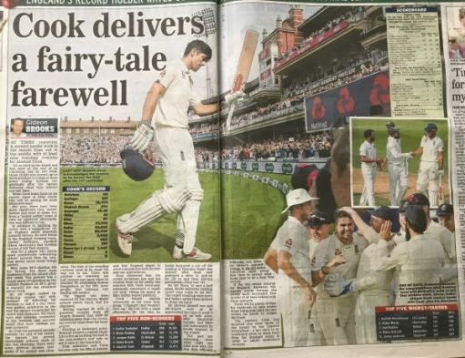 "I woz there: ""Cook delivers a fairy-tell farewell"""