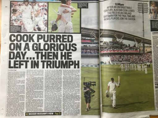 "I woz there: ""Cook purred on a glorious day... then he left in triumph"""