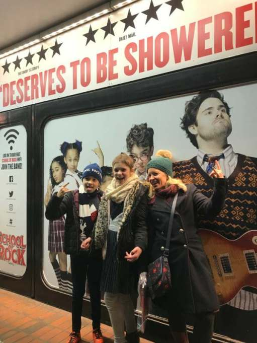 Christmas: School of Rock, New London Theatre.