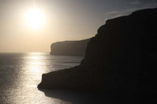 Contre-jour: Gozo. Malta. Late afternoon.