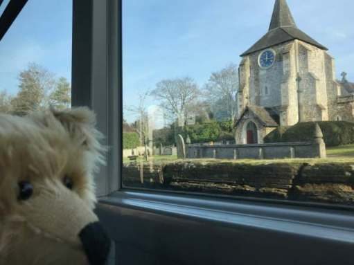 Finding Serenity: I like bus rides… Mickleham church.