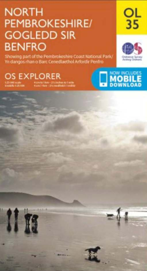 Walk from St David's: OL 35, OS Explorer covers the whole walk and beyond.