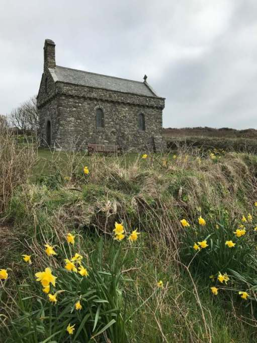 Walk from At David's: St Non's chapel, close to the Pembrokeshire Coast path.