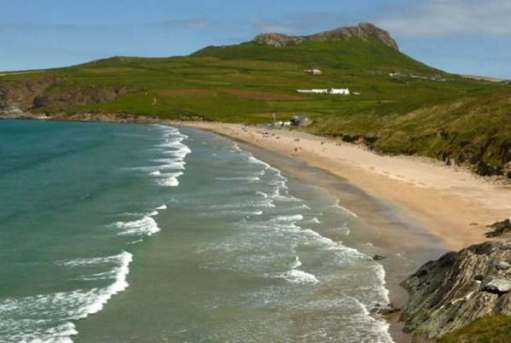Walk from St David's: The rain came, so this is beautiful Whitesands Bay the next day.