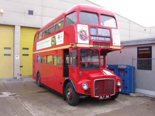 Routemaster Bus: RM1 SLT 56. London Transport Museum, Acton.