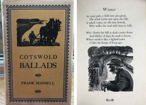 Poetry by Frank Mansell. Woodcarving by Robert Ball.